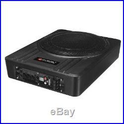 10'' 600W Slim Under-Seat Car Powered Subwoofer Active Amplifier Enclosure t