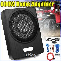 10'' 600W Ultra-Thin Active Car Under-Seat Subwoofer Sub Box Speaker Amplifer