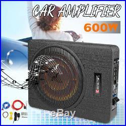 10 Inch 600W Car Under Seat Slim Active Amplifier Subwoofer Enclosure