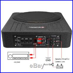 10 Inch 600W Car Under Seat Slim Active Amplifier Subwoofer Enclosure t