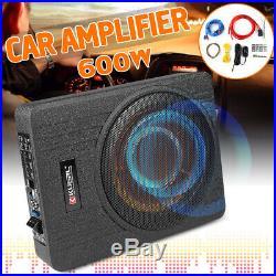 10 Inch 600W Car Under Seat Slim Active Power Amplifier Enclosure Subwoofer