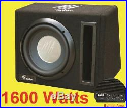 10inch Active Amplified subwoofer Bass box 1600watts Easy install + WIRING KIT