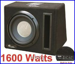 10inch Active Amplified subwoofer Bass box 1600watts Small Compact design Sound