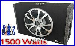12 INCH Sub woofer built in Amplified Active Slim Shallow box for car, van, Truck