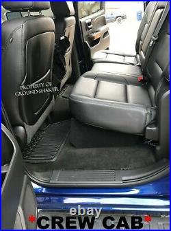 14-2018 Chevy Silverado Crew Cab Sub Box 12 Dual Subwoofer Enclosure GREEN Logo