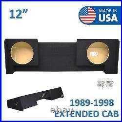 1988-1998 Chevy Silverado Extended-Cab 12 Dual Subwoofer Enclosure Sub Box