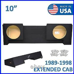 1988-98 Chevy Silverado Extended-Cab 10 Dual Sealed Sub Box Subwoofer Enclosure