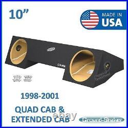 1998-2001 Dodge Ram Quad Cab Extended-Cab Dual 10 Sub Box Subwoofer Enclosure