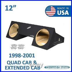 1998-2001 Dodge Ram Quad Cab Extended-Cab Dual 12 Sub Box Subwoofer Enclosure