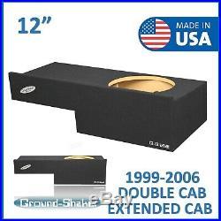 1999-2006 12 Single Chevy Silverado Extended-Cab Sub Box Subwoofer Enclosure