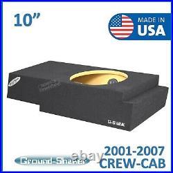 2001-07 Chevy Silverado Crew-Cab 10 Single Sealed Sub Box Subwoofer Enclosure