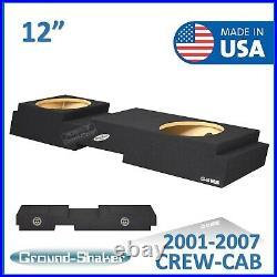 2001-2007 Chevy Silverado Crew-Cab 12 Dual Sealed Sub Box Subwoofer Enclosure