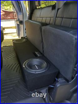 2002-2017 Ford F-250 & F-350 Extended cab 10 Dual sub box subwoofer Enclosure