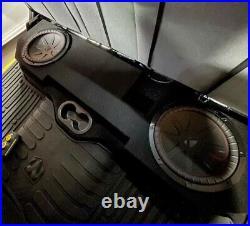 2002-2018 Dodge Ram 1500 2500 3500 Quad Cab 12 Dual Sub Box Subwoofer Enclosure