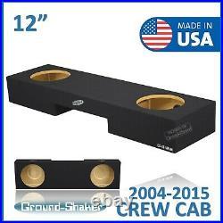 2004-2015 Nissan Titan Crew Cab 12 Dual Sealed Sub Box Subwoofer Enclosure