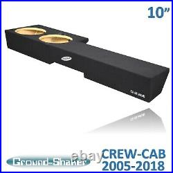 2005-2018 Nissan Frontier Crew Cab 10 Dual Sealed Sub Box Subwoofer Enclosure