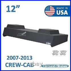 2007-2013 Chevy Silverado Crew Cab Sub Box 12 Dual Subwoofer Box Enclosure