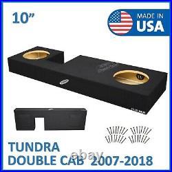 2007-2018 Toyota Tundra Double Cab 10 Dual Sealed Sub Box Subwoofer Enclosure