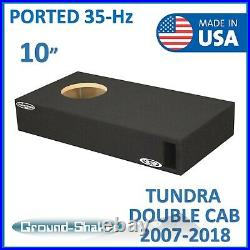 2007-2018 Toyota Tundra Double Cab 10 Single Ported Sub Box Subwoofer Enclosure