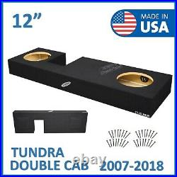 2007-2018 Toyota Tundra Double-Cab 12 Dual Sealed Sub Box Subwoofer Enclosure