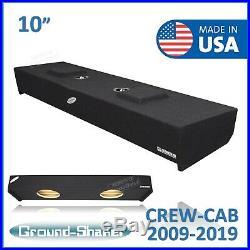 2009-2019 Ford F150 Crew Cab 10 Dual Sealed Sub Box Subwoofer Enclosure