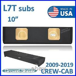 2009-2019 Ford F150 Crew Cab 10 Dual Sealed Subwoofer Enclosure (For Kick L7T)