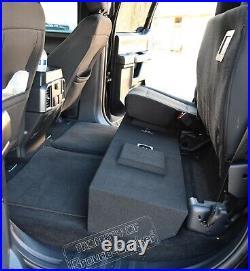 2009-2019 Ford F150 Crew Cab 12 Dual Sub Box Subwoofer Enclosure + 4 Gauge Kit