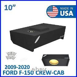 2009-2020 Ford F150 Crew Cab 10 Single Sub Box Subwoofer Enclosure Speaker Box