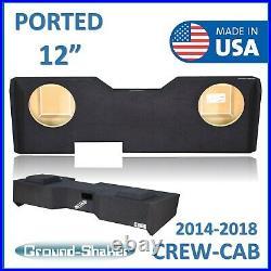 2014-2018 Chevy Silverado Crew-Cab 12 Dual ported Sub box Subwoofer Enclosure