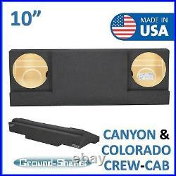 2015-2019 Chevy Colorado Crew Cab 10 Dual Sealed Sub Box Subwoofer Enclosure