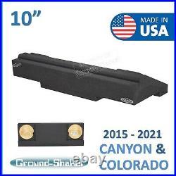 2015-2021 Chevy Colorado Crew Cab 10 Dual Sealed Sub Box Subwoofer Enclosure