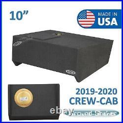 2019-2020 Chevy Silverado Crew Cab Truck Sub Box 10 Single Subwoofer Enclosure