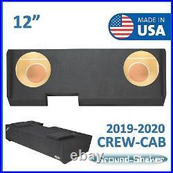 2019-2020 Chevy Silverado Crew-Cab Truck Sub Box 12 Dual Subwoofer Enclosure