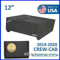2019-2020 Chevy Silverado Crew Cab Truck Sub Box 12 Single Subwoofer Enclosure