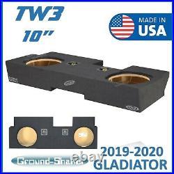 2019-2020 Jeep Gladiator 10 Dual Sub Box Subwoofer Enclosure For JL Audio TW3