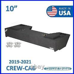 2019-2021 Dodge Ram Crew Cab Truck Sub Box 10 Dual Sealed Subwoofer Enclosure