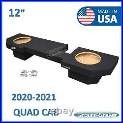 2020-2021 Dodge Ram 1500 2500 3500 Quad Cab 12 Dual Sub Box Subwoofer Enclosure