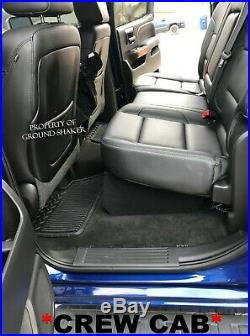 4 Gauge Amp Kit + Chevy Silverado Crew-Cab 12 Dual Sub Box Subwoofer Enclosure