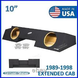 88-1998 Chevy Silverado Extended Cab Sub Box 10 Dual Subwoofer Box Enclosure