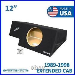 88-1998 Chevy Silverado Extended Cab Sub Box 12 Single Subwoofer Box Enclosure