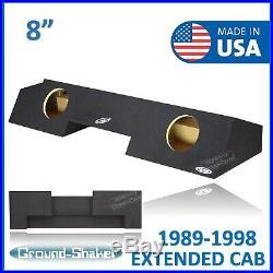 88-1998 Chevy Silverado Extended Cab Sub Box 8 Dual Subwoofer Box Enclosure