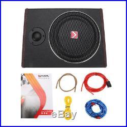 8 600W Watt Active Under Seat Car Subwoofer Stereo Power Amplifier Amp