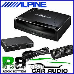 ALPINE 8 20CM Active 150 W Amplified Slim Underseat Car Sub Subwoofer Bass Box