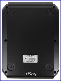 ALPINE PWD-X5 Shallow Slim Under-Seat Powered Subwoofer withBuilt-In 4-Channel Amp
