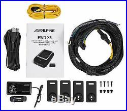 ALPINE PWD-X5 Slim Under-Seat Powered Subwoofer+Wire Kit+(4) Polk 4x6 Speakers