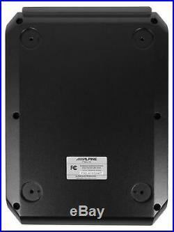 ALPINE PWD-X5 Slim Under-Seat Powered Subwoofer+Wire Kit+(4) Polk 6.5 Speakers