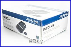 Alpine PWD-X5 Under Seat Powered 8 Subwoofer Bass System with 4-Channel DSP & Amp