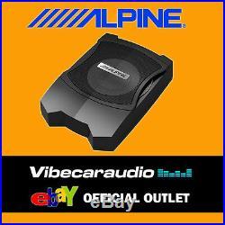 Alpine PWE-V80 8 160W Compact Powered Subwoofer Box Underseat Bass Box