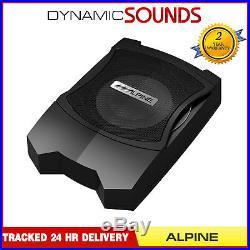 Alpine PWE-V80 8 20cm Under Seat Active Amplified Subwoofer Bass Box