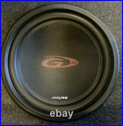 Alpine Type G 10 SWG-1044 Subwoofers and Enclosure
